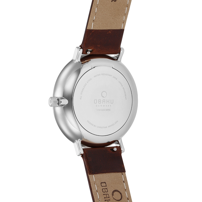 Obaku Men watch TOFT - MOCHA BACK view