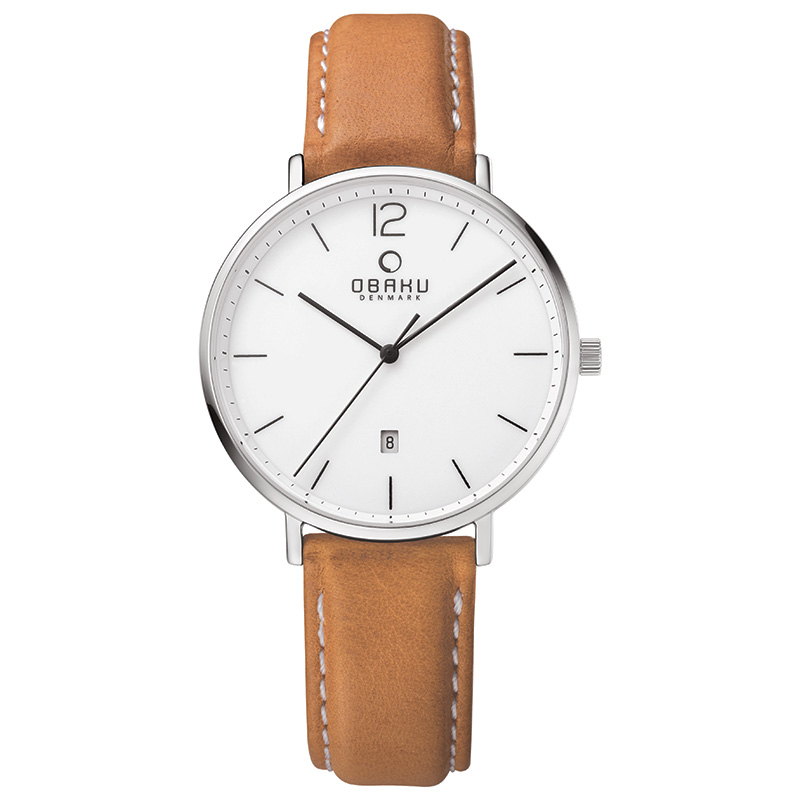 Obaku Men watch TOFT - COGNAC FRONT view