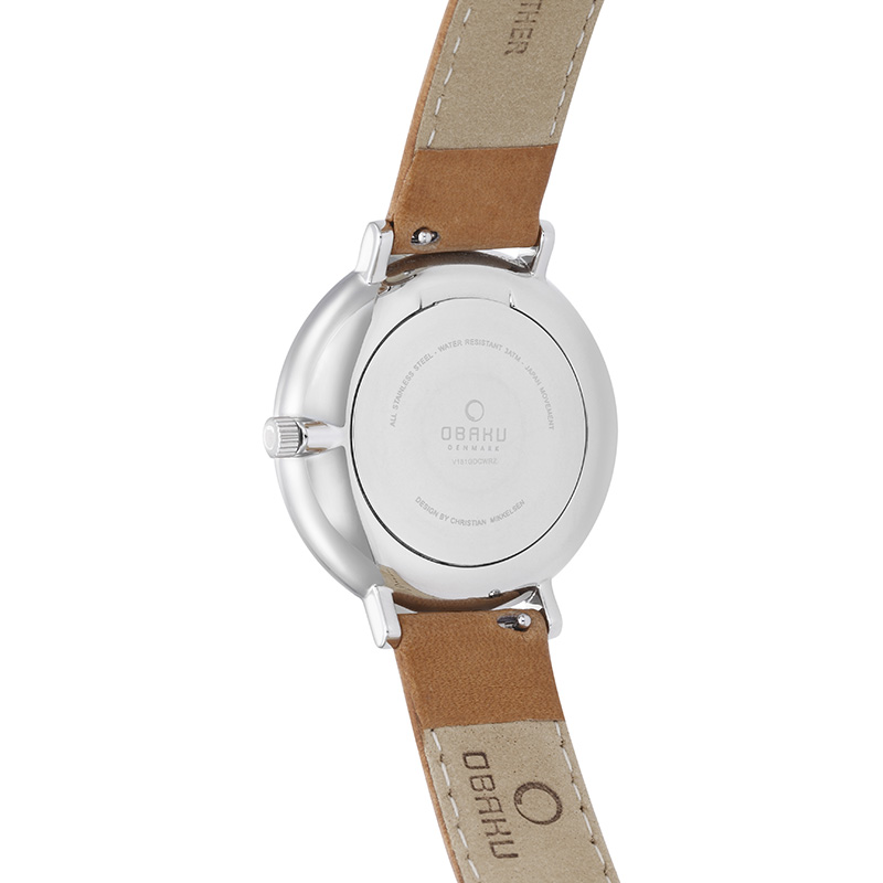 Obaku Men watch TOFT - COGNAC BACK view