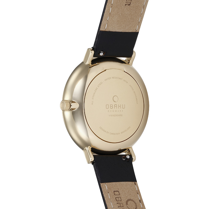Obaku Men watch TOFT - MOON BACK view
