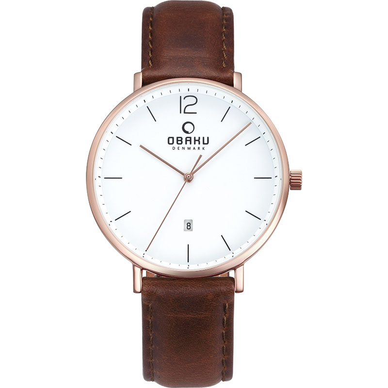 Obaku Men watch TOFT - MAHOGANY