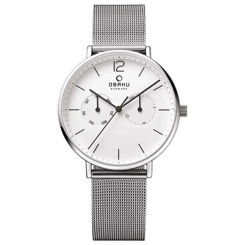 Obaku Men watch FLOD - STEEL FRONT view