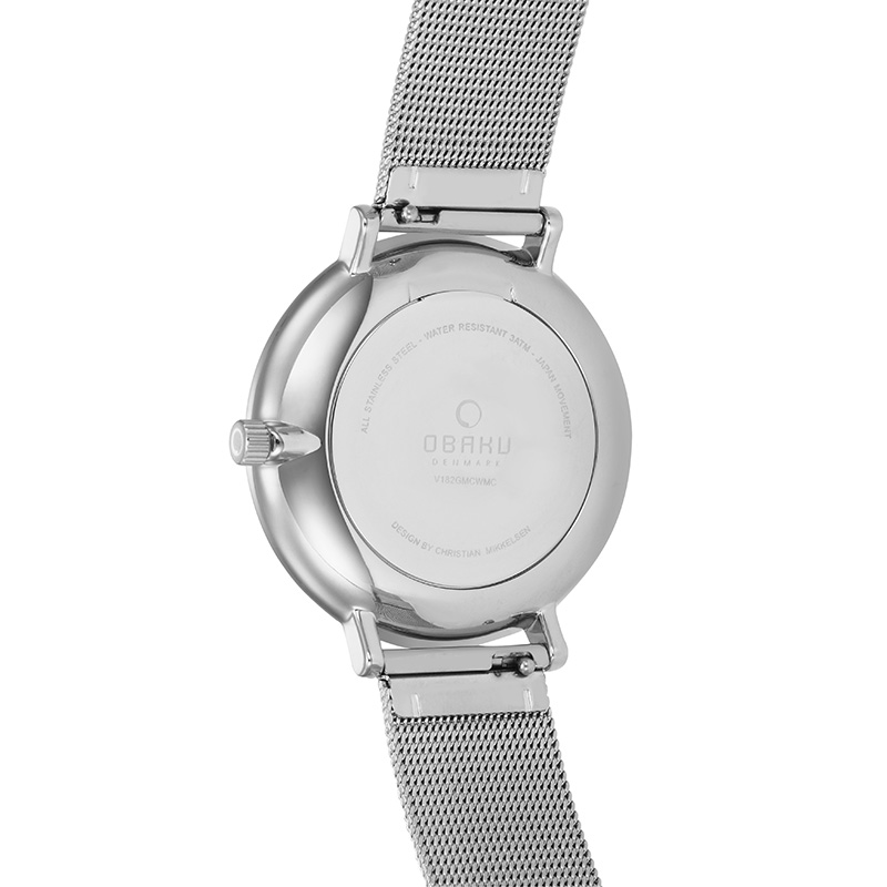 Obaku Men watch FLOD - STEEL BACK view