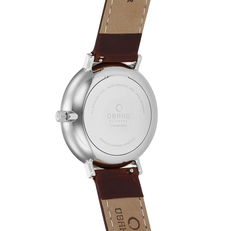 Obaku Men watch FLOD - MOCHA BACK view