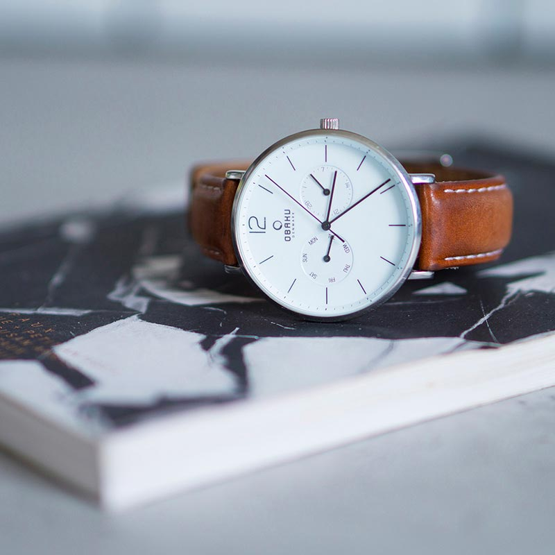 Obaku Men watch FLOD - MOCHA SM1 view