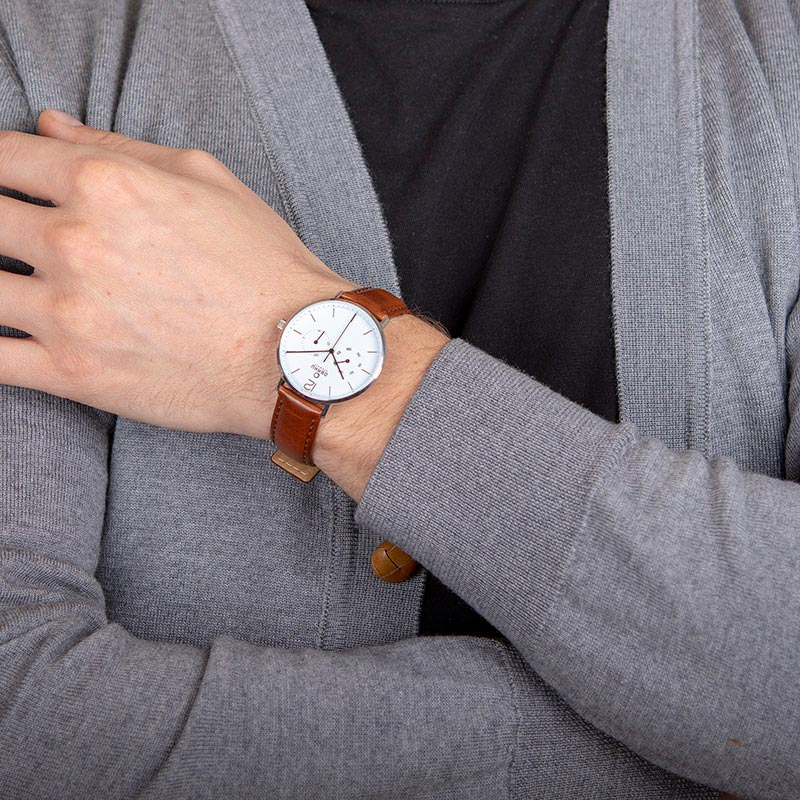 Obaku Men watch FLOD - MOCHA WRIST view