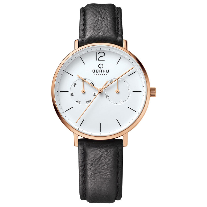 Obaku Men watch FLOD - COAL FRONT view