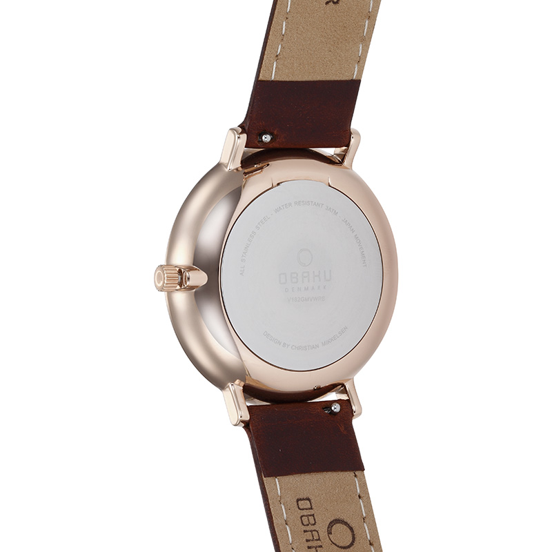 Obaku Men watch FLOD - COAL BACK view