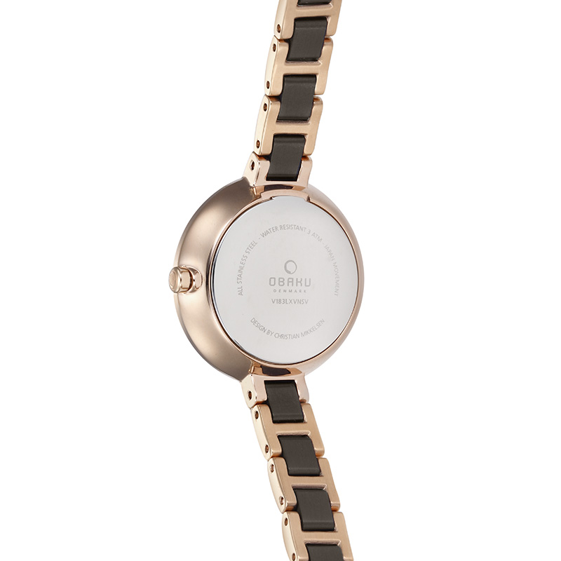 Obaku Women watch VIND - COFFEE BACK view