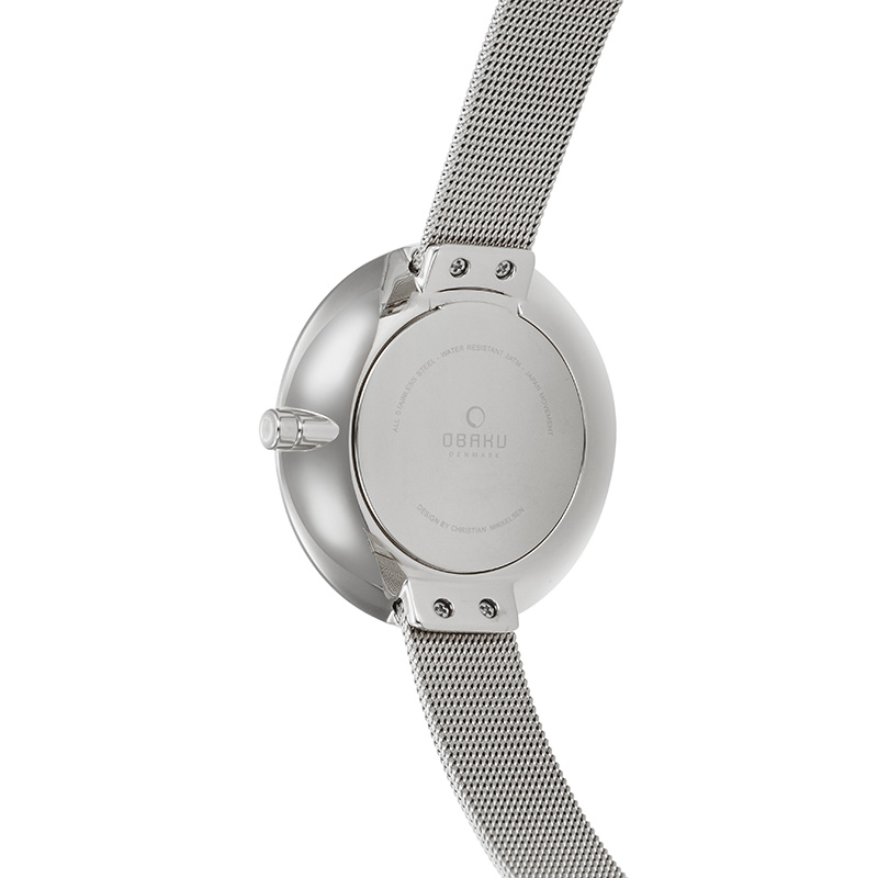 Obaku Women watch SAND - STEEL BACK view