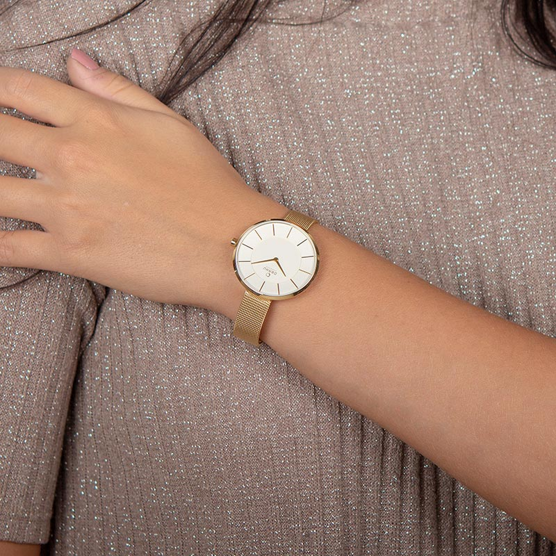 Obaku Women watch SAND - GOLD WRIST view