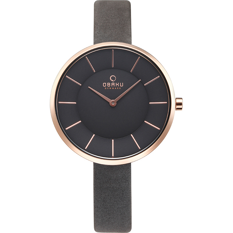 Obaku Women watch SAND - PEBBLE FRONT view