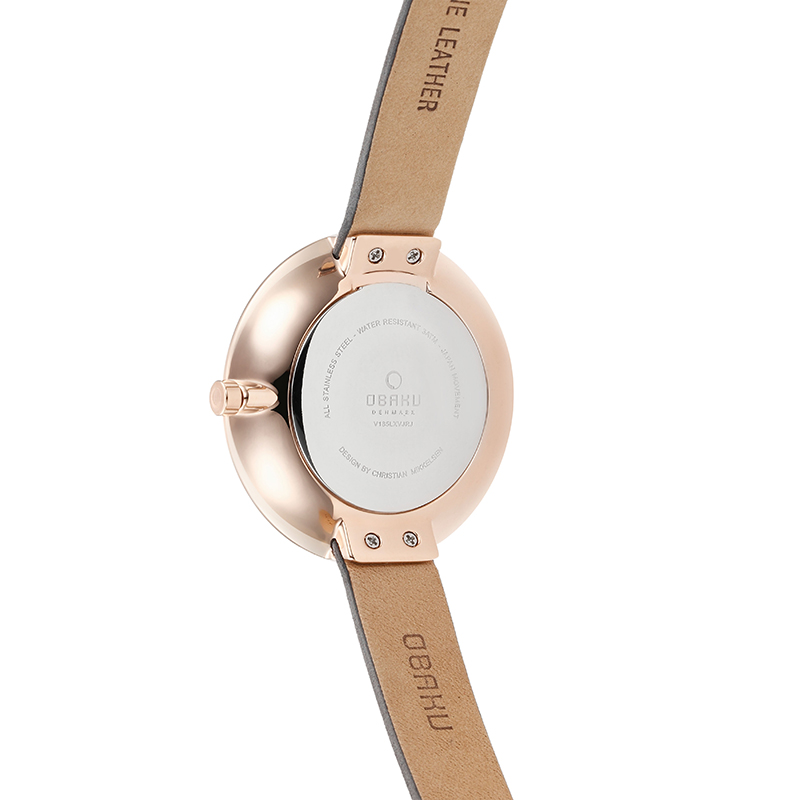 Obaku Women watch SAND - PEBBLE BACK view