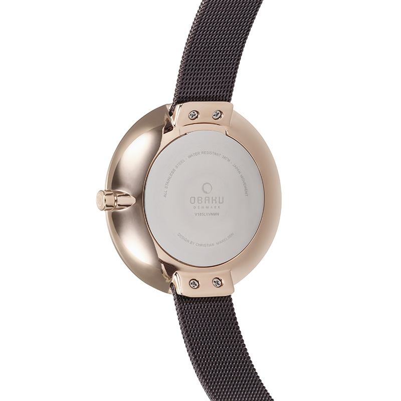 Obaku Women watch SAND - WALNUT BACK view