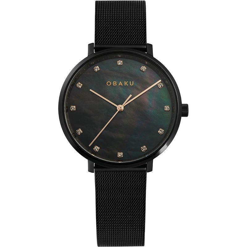 Obaku Women watch VEST - CHARCOAL FRONT view