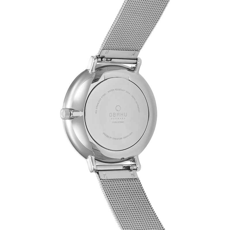Obaku Women watch VEST - STEEL BACK view