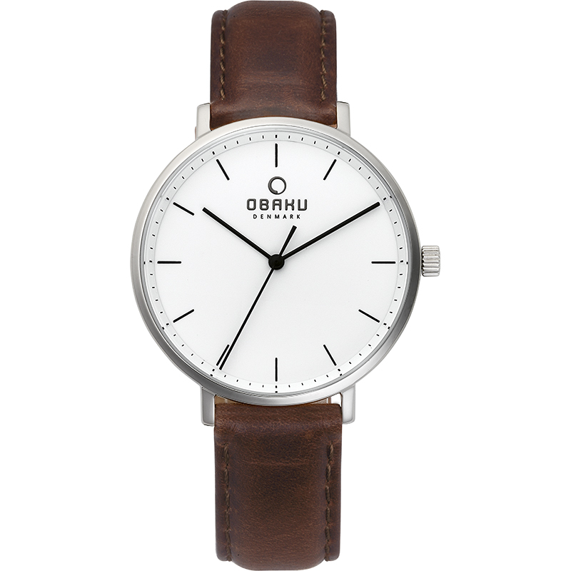 Obaku Women watch VEST - MOCHA FRONT view