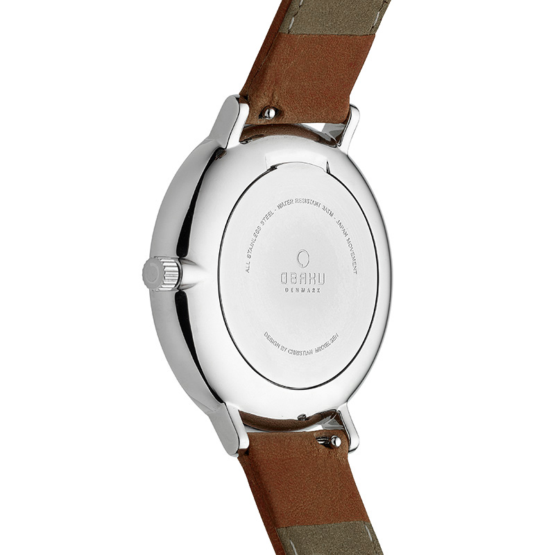 Obaku Women watch VEST - MOCHA BACK view