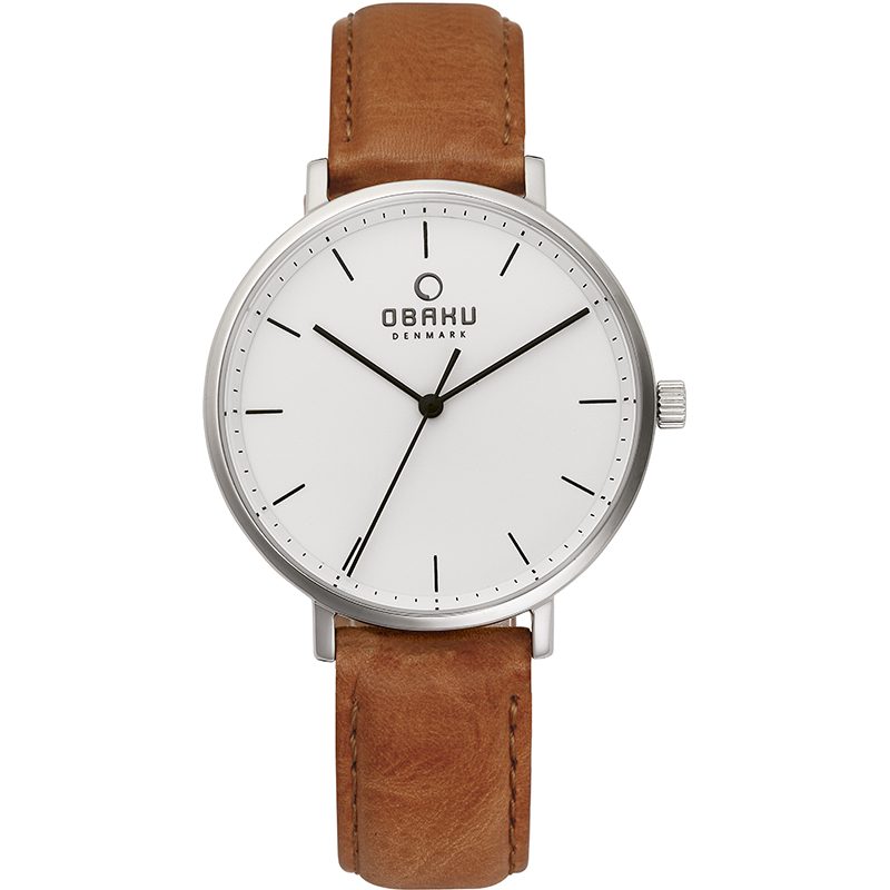 Obaku Women watch VEST - COGNAC FRONT view