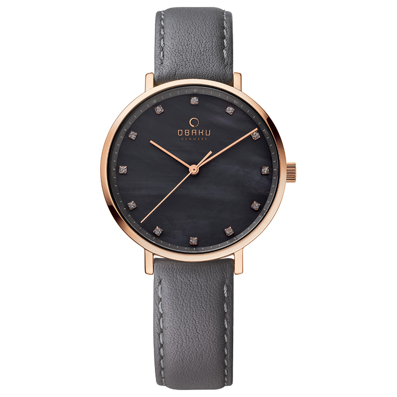 Obaku Women watch VEST - PEBBLE FRONT view
