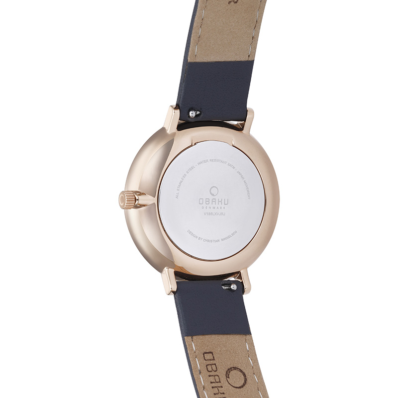 Obaku Women watch VEST - PEBBLE BACK view