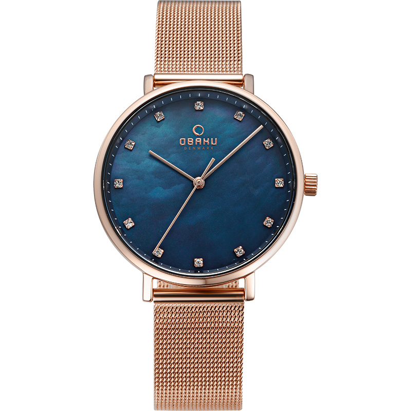 Obaku Women watch VEST - AZURE FRONT view