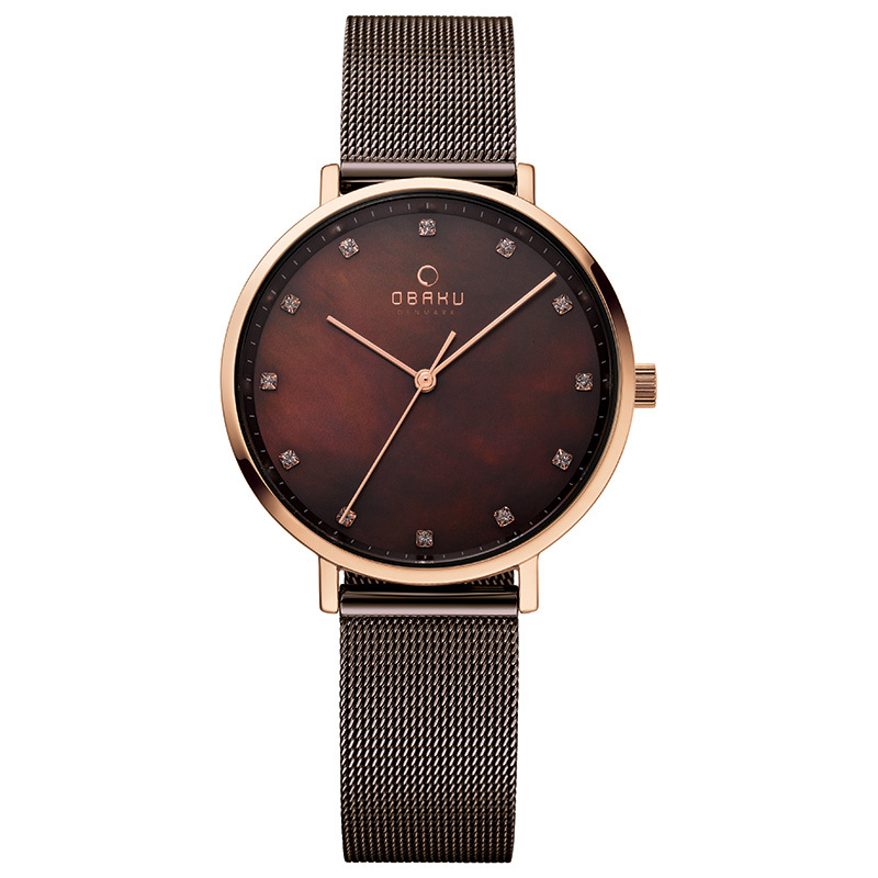 Obaku Women watch VEST - WALNUT FRONT view