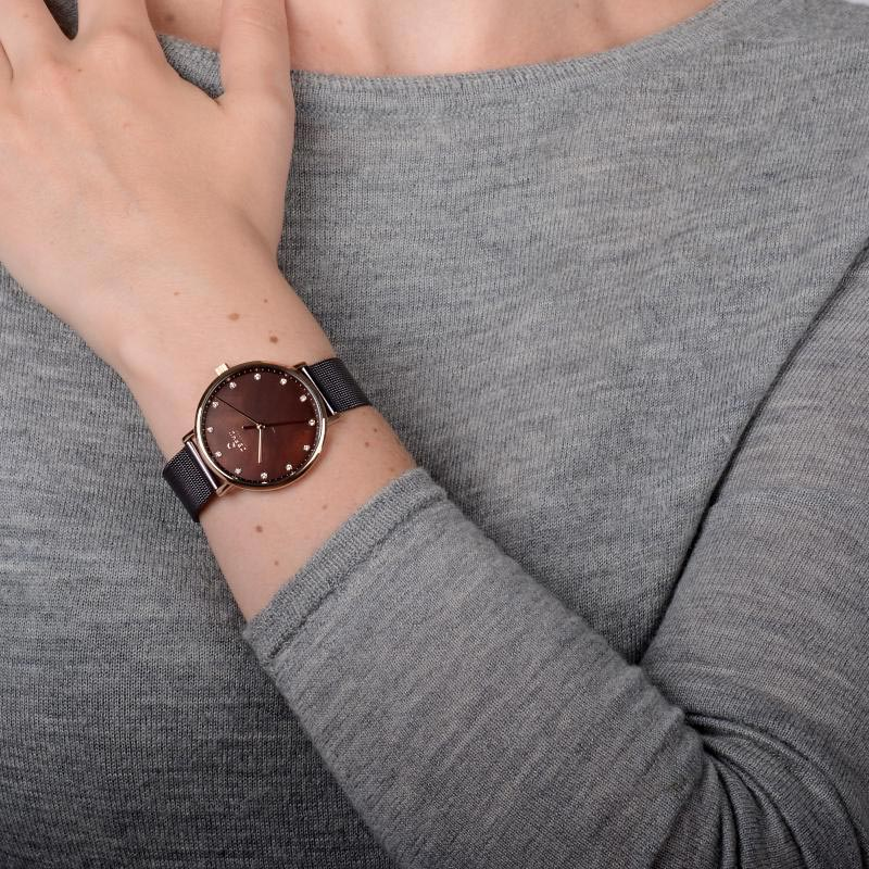 Obaku Women watch VEST - WALNUT WRIST view