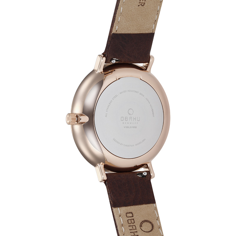 Obaku Women watch VEST - COAL BACK view