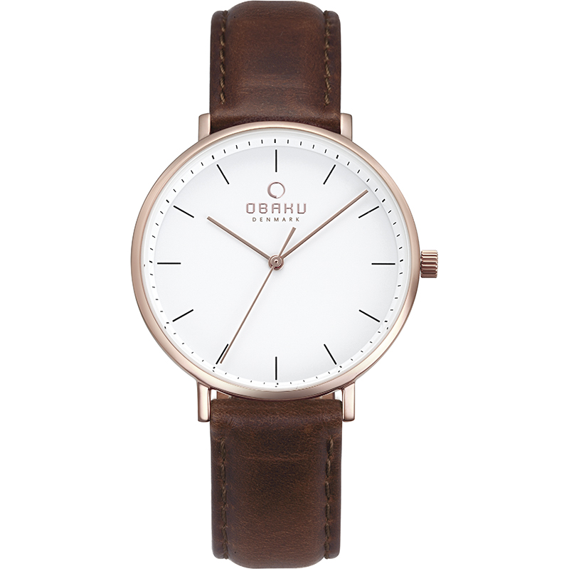 Obaku Women watch VEST - MAHOGANY FRONT view