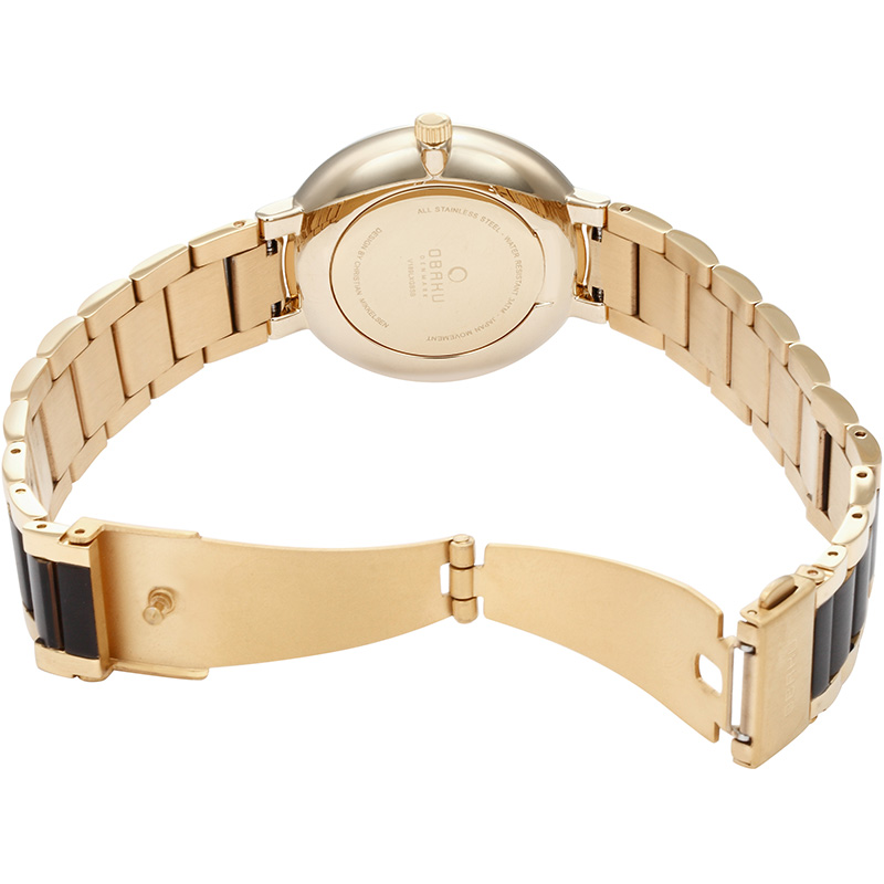 Obaku Women watch GLAD - BLACKGOLD OPEN view