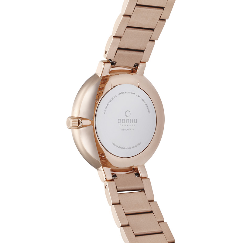 Obaku Women watch GLAD - FUCHSIA BACK view
