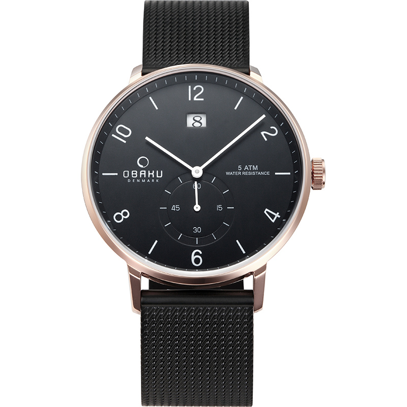 Obaku Men watch RISLEN - NIGHT FRONT view