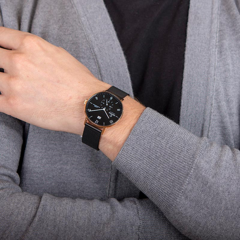 Obaku Men watch RISLEN - NIGHT WRIST view