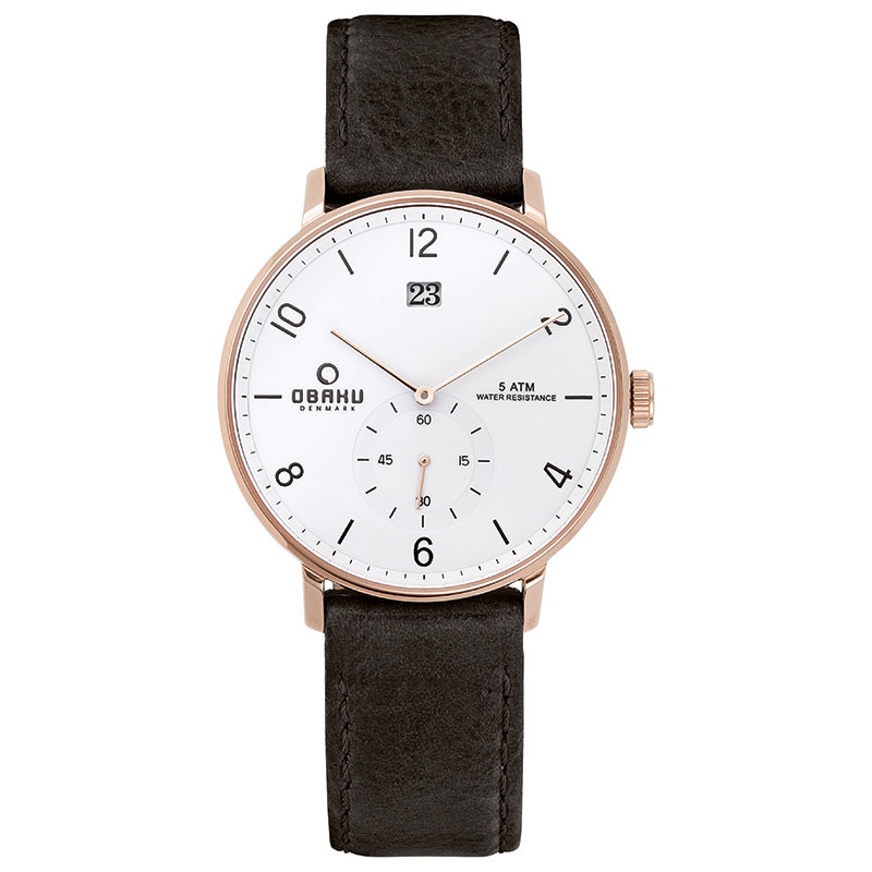 Obaku Men watch RISLEN - COAL FRONT view