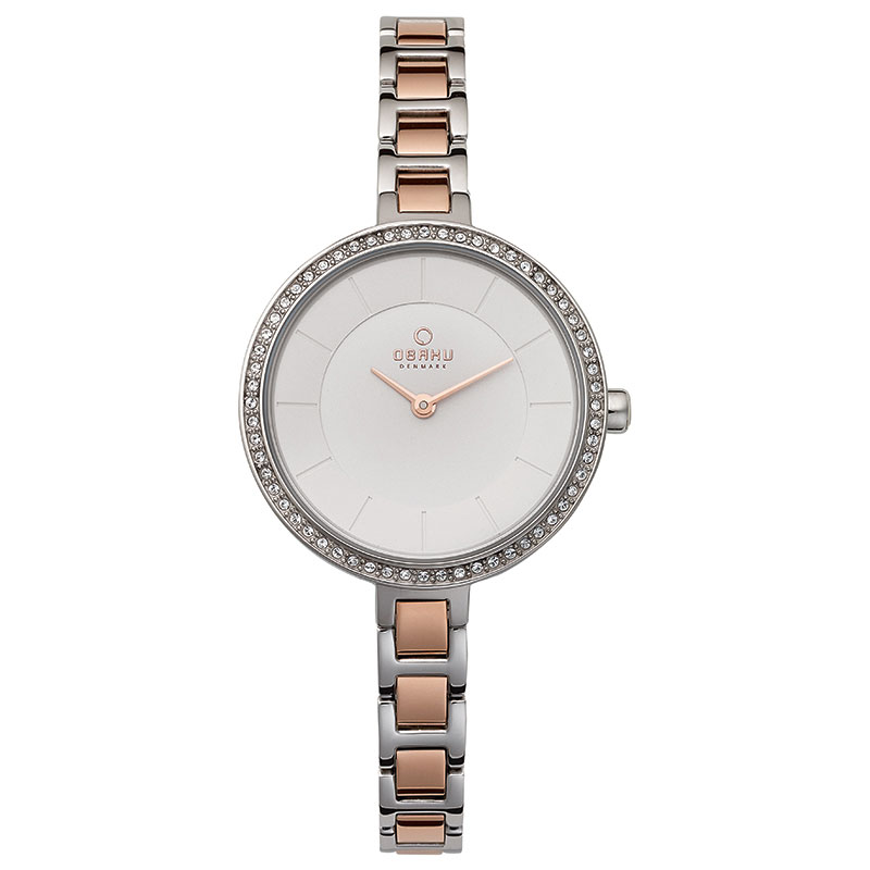 Obaku Women watch FROST - PEACH FRONT view