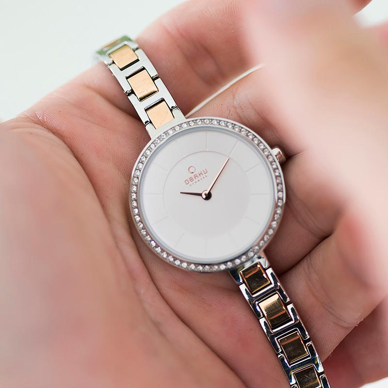 Obaku Women watch FROST - PEACH SM2 view