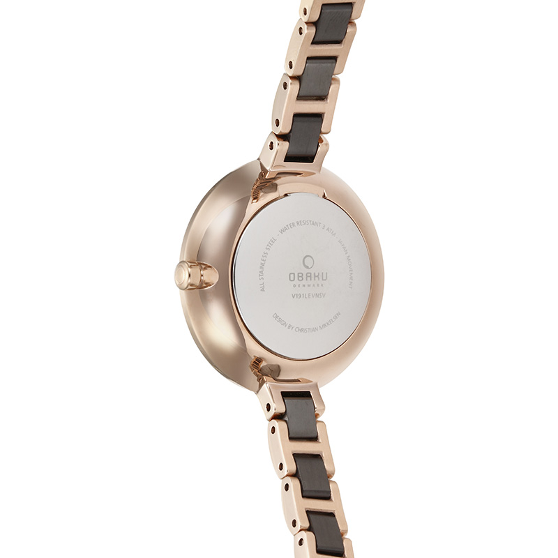 Obaku Women watch FROST - COFFEE BACK view