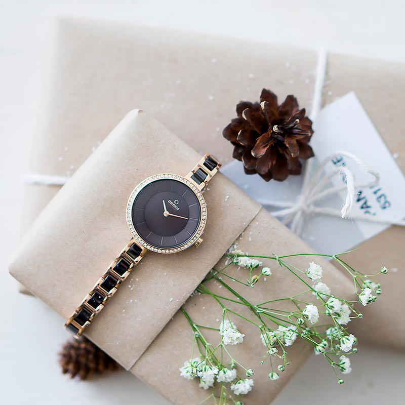 Obaku Women watch FROST - COFFEE SM1 view