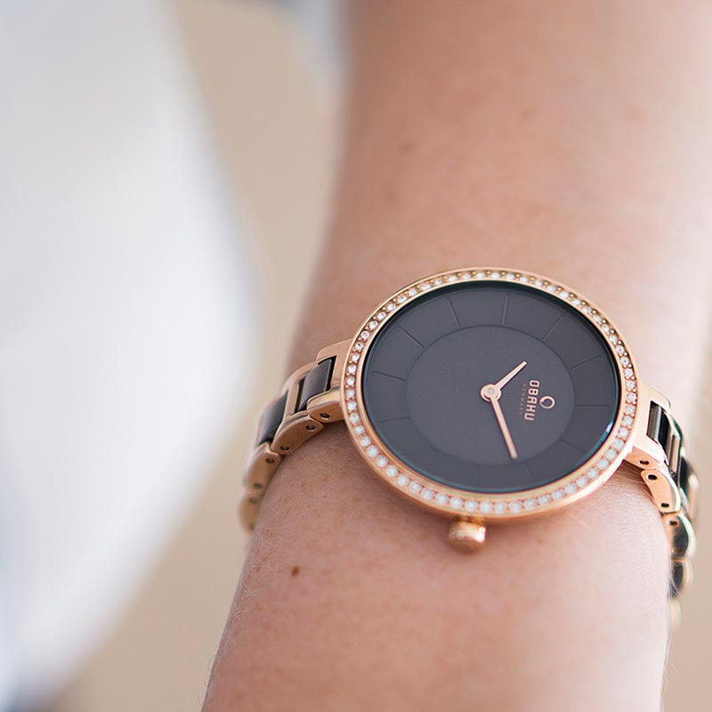 Obaku Women watch FROST - COFFEE SM3 view