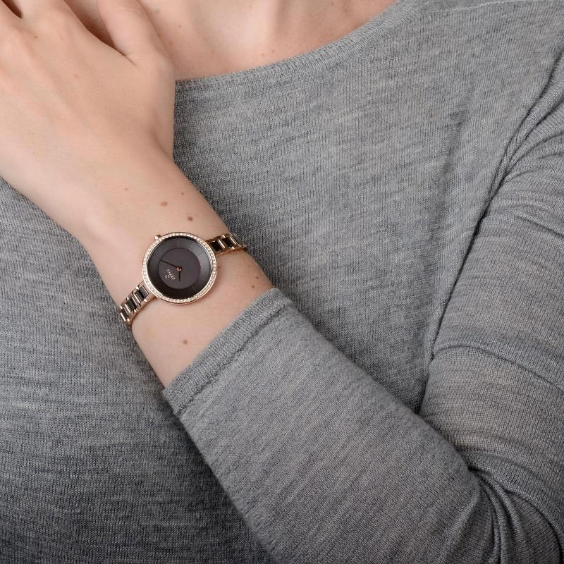 Obaku Women watch FROST - COFFEE WRIST view