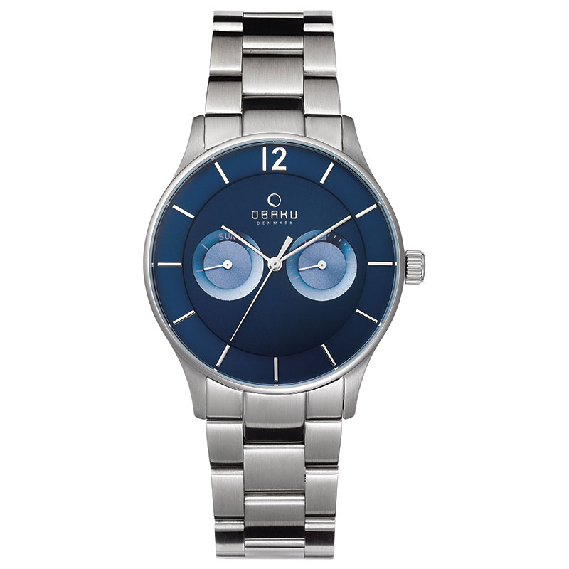 Obaku Men watch LUFT - DENIM FRONT view