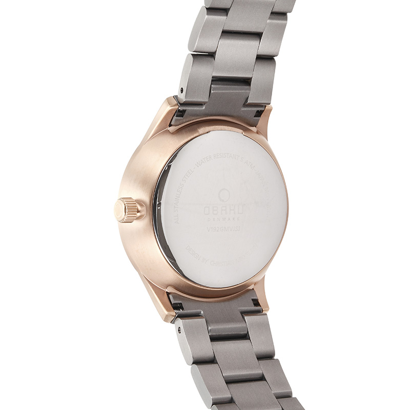 Obaku Men watch LUFT - CREPE BACK view
