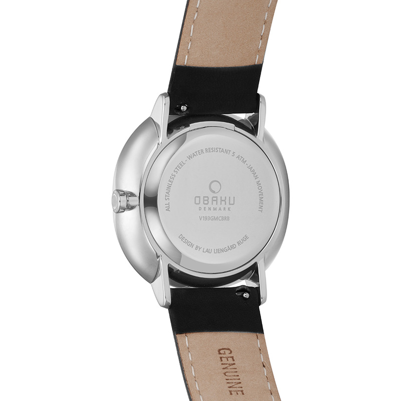 Obaku Men watch AHORN - JET BACK view
