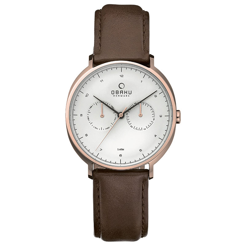 Obaku Men watch AHORN - MAHOGANY