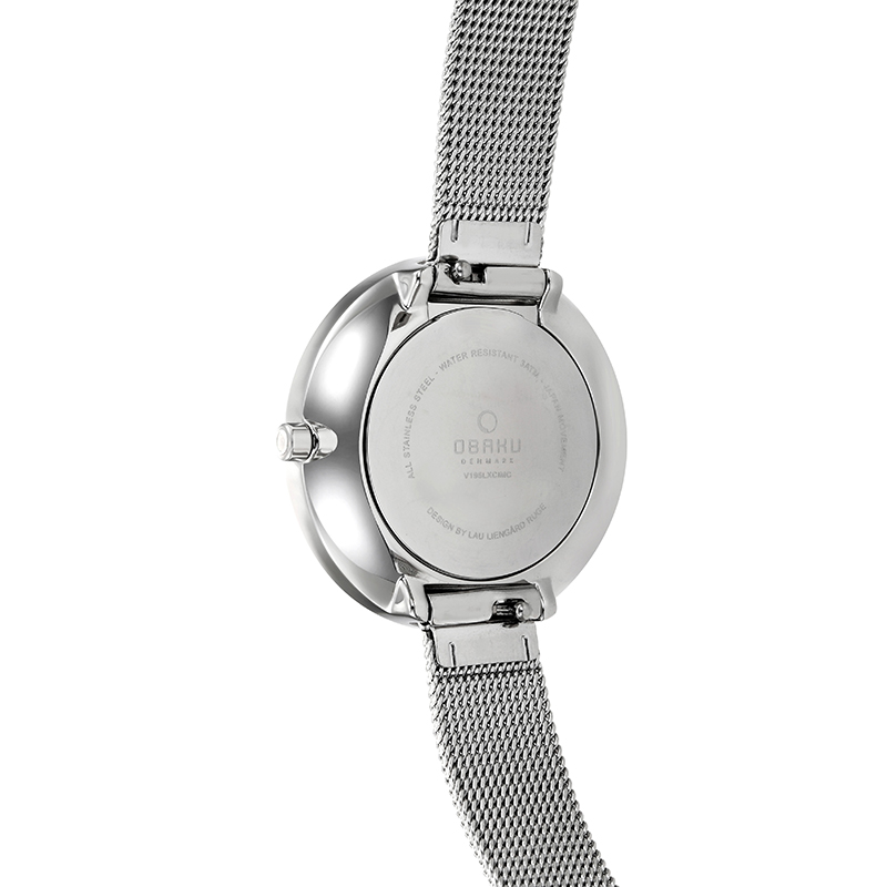 Obaku Women watch VAND - STEEL BACK view