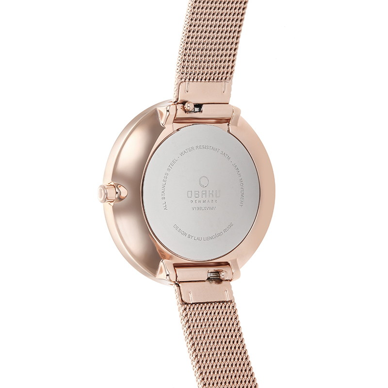 Obaku Women watch VAND - ROSE BACK view