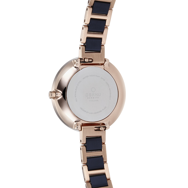 Obaku Women watch VAND - COBALT BACK view