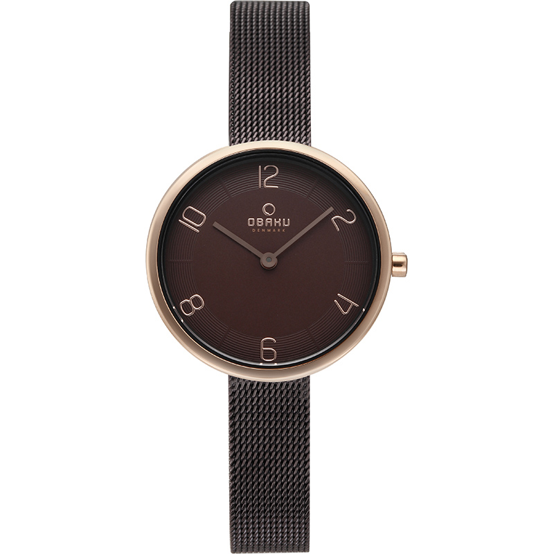 Obaku Women watch VAND - WALNUT FRONT view