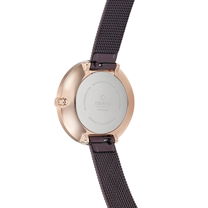 Obaku Women watch VAND - WALNUT BACK view